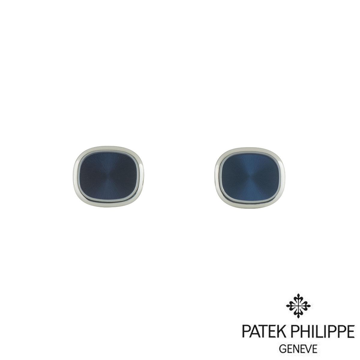 Patek Phillipe White Gold Ellipse Cufflinks 2059102G